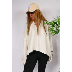 Pull Oversize Couleur Blanc