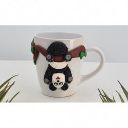 Mug Panda Blanc en Fimo