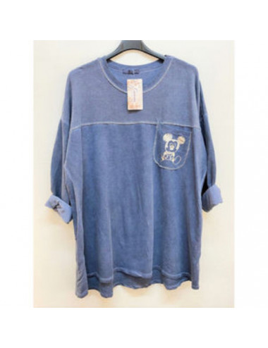 Tunique sweat bleu
