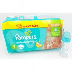 124 Couches Pampers Baby...