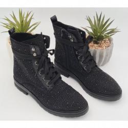 Chaussures Strass Noir &...